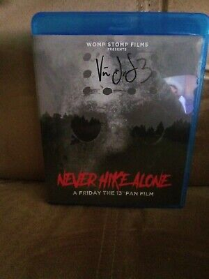 Never Hike Alone : A Friday the 13th Fan Film Blu-ray AUTOGRAPHED Jason Voorhees