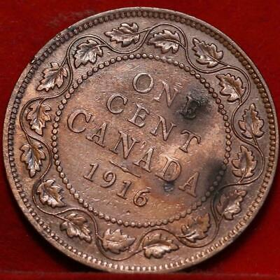 Nice 1916 Canada Large Cent 1c George V You Grade