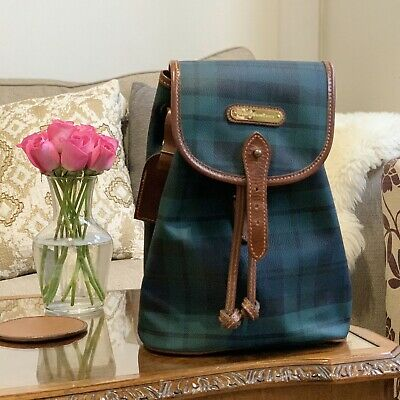 Polo Ralph Lauren Blackwatch Tartan Backpack, Rare Designer Bag, RRP £220