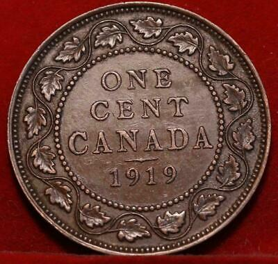 Nice 1919 Canada Large Cent 1c George V You Grade