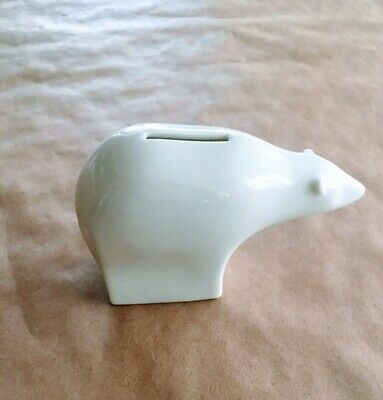 Dansk Polar Bear Ceramic Bank White Japan Vintage Mid Century Modern