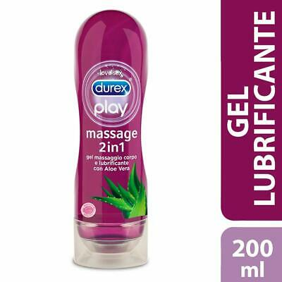 Lubrificante Intimo DUREX ALOE VERA Play MASSAGE 2in1 Gel Intimo per Massaggi