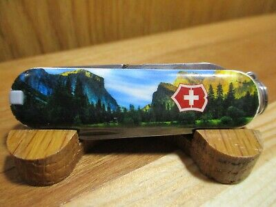 Victorinox Swiss Army Knife Classic SD With Mountain On The Scales