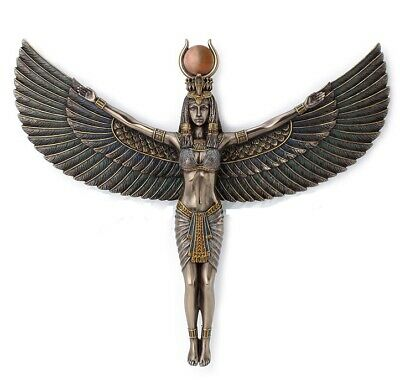 13 Inch Egyptian Goddess Isis Spreading Wings Wall Plaque Egypt Decor