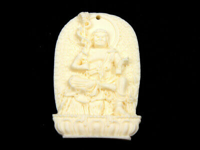 Quality Highly Detailed Hand Carved Pendant Ancient Tibetan Buddha #12021824