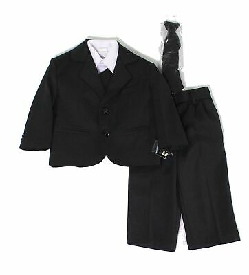 Designer Brand Baby Boys Suits Black US Size 2 Notched-Lapel Two-Button $60 028