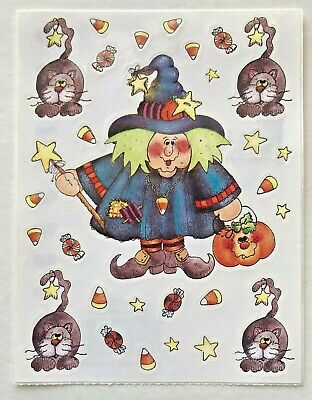 1997 SPOOKY HALLOWEEN THEMED PROVO CRAFT STICKERS SPIDERS PUMPKINS CANDY CORN