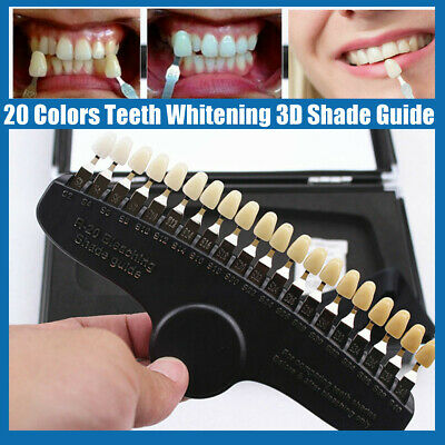 20 Colors Education Teeth Whitening Dental Shade Guide Bleaching Shadeguide