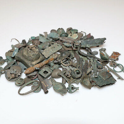 Top Lot Of 146 Bronze Artifacts-Appliques-Fragments-From 500 Bc To 1500 Ad