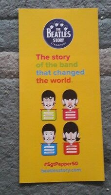 The Beatles Story (Liverpool) promo Flyer Sgt. Peppers Lonely Hearts club band