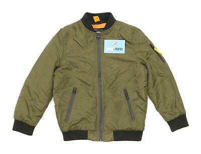 River Island Boys Green Midweight Casual Bomber Jacket Age 7-8