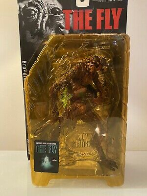 Mcfarlane THE FLY Brundle Movie Maniacs figure. Mint Sealed on card