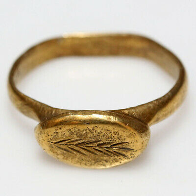 Scarce Late Hellenic Period Early Roman Gold Electrum Ring