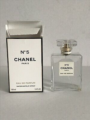 CHANEL No 5 Eau De Parfum 3.4 oz 100ml EMPTY Spray Bottle And Box Made in France