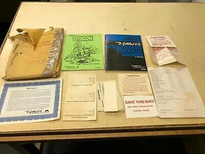 Gottlieb Dragon Solid State Pinball Machine Original Manuals And Other Things