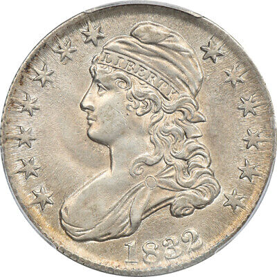 1832 Small Letters Capped Bust Half Dollar AU 55, PCGS 50c C00048962