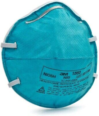 3M 1860 N95 Healthcare Respirator Surgical Particulate Mask Lot Of 10 Masks
