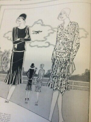 Vtg The Book of Woman's World Fashions Designer Sewing Pattern Catalog 1929 20s