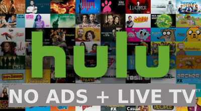 Hulu Premium + Live TV + No Ads   1 Year   Fast Delivery