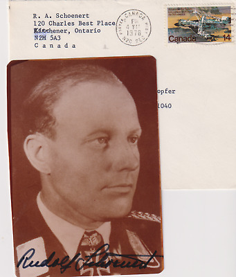 SP & letters Major Rudolf Schoenert - Luft ace 64 night victories- Knights Cross
