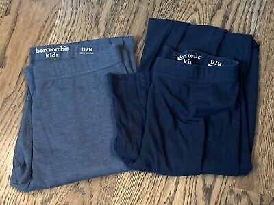 LOT of 2 Girl's Sz 13-14 Abercrombie & Fitch Gray & Black Leggings - More Listed