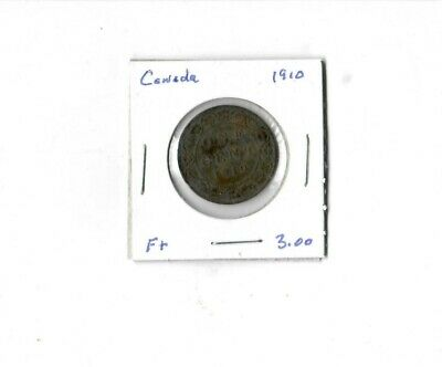Canada 1910 Penny...Free Shipping...Closing Shop..Clearing Out Coins