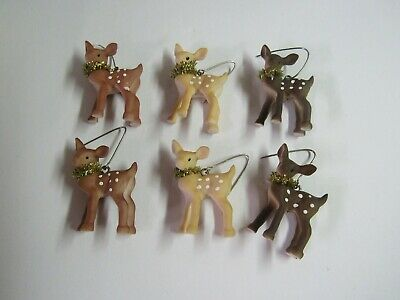 Bethany Lowe Boxed Set Of 6 Mini Fawn Ornaments SN7487 Deer