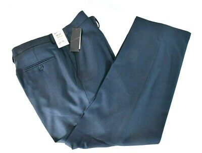 Kenneth Cole Reaction Mens Blue Dress Pants New 32 33 36 Stretch Modern Fit