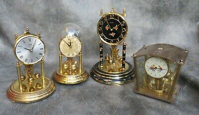 Four Good Quality Anniversary Clocks For Restore Or Spares.