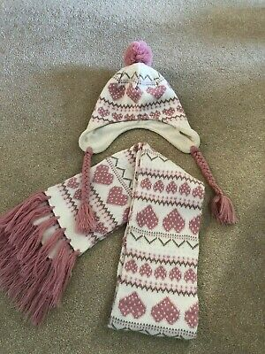 Girls Hat and Scarf Set - Age 7/10 Years