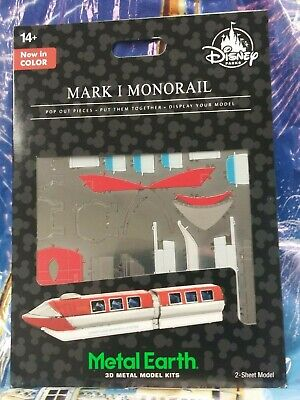 Disney Parks Metal Earth 3D Model Kit Mark I Monorail in Color  New