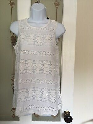 Ladies Stunning White Summer Top Size 12 by Blooming Marvellous