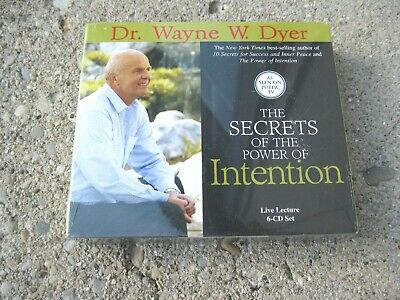 The Secrets of the Power Intention Wayne W Dyer 6-Disc Unabridged CD Set SEALED