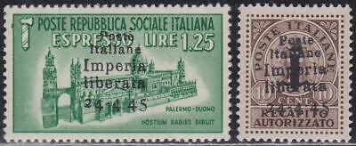 ITALY LOCAL ISSUES CLN 1945 Imperia 2v MH signed N2227