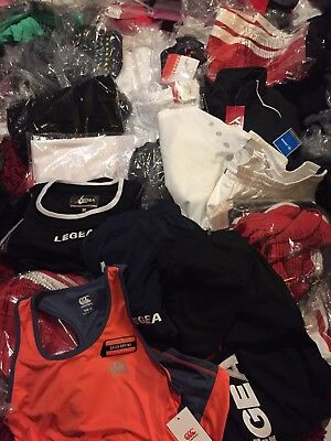 21 X Job Lot Of Sports Clothing New Taged Market Trade Wholsale Football Rugby