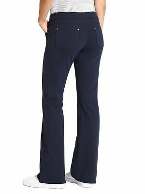 Athleta Bettona Classic Pant, NWOT, Small Petite, Navy, Flattering Fit!