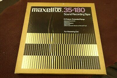 "Maxell UD 35-180 10 1/2"" X 1/4"" Audio Tape, Reel to Reel w/Metal Reel, Nice!"
