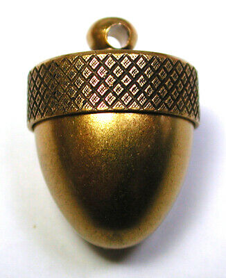 """Mechanical Brass Button Realistic Acorn Container Design - 11/16"""""""