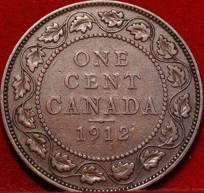 Nice 1912 Canada Large Cent 1c George V You Grade
