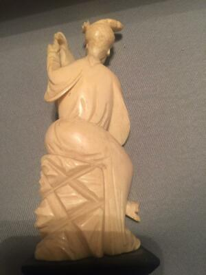 Antique Chinese Carved Lady Figurine Statue