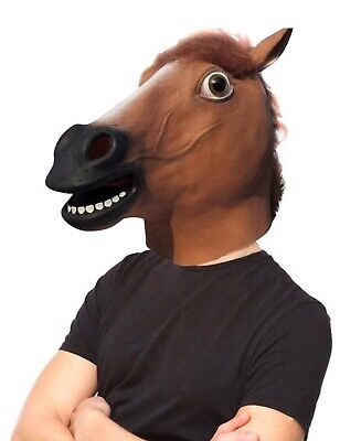 Lubber Horse Head Latex Toy Animal Head Mask For Halloween Costume