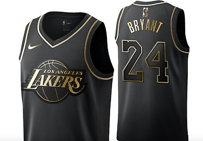Men's Los Angeles Lakers #24 Kobe Bryant Black Golden Edition Jersey
