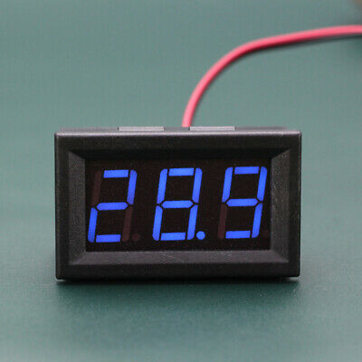Mini LED 3-Digital Display Volt Voltage Voltmeter Panel Accurate Meter 5-120V
