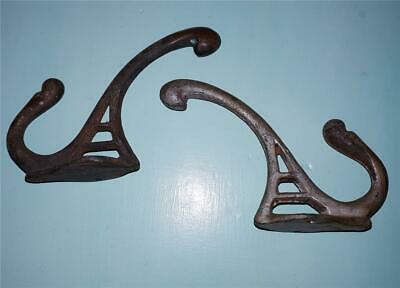 Set of 2 Genuine Antique Hall Stand *Clothes *Coat *Hat Hooks* RUSTIC      #3