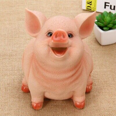 Small Pig Piggy Bank Saving Pot Home Office Decor Meaningful Birthday Child Gift