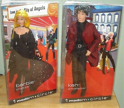 1 Modern Circle Barbie Producer & Ken Art Director Dolls NRFB - 2003