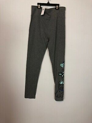 Justice Stretch Athletic Skinny Leggings Girls Size 18/20 Gray Full Length NEW