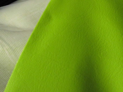 """5meters of 54"""" wide lime UPHOLSTERY LEATHER VINYL fire retd fabric"""