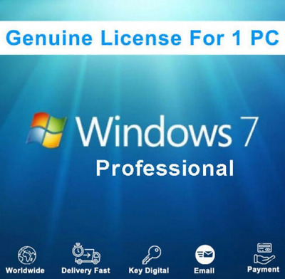 Windows 7 Professional key/license key 100% Original 32/64 Bits mehrsprachig