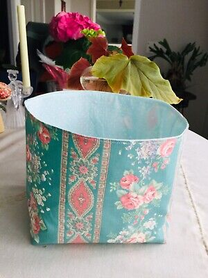 LARGE Handy Reversible Fabric Storage Bin Container DECOR ORGANIZER DUSY ROSE
